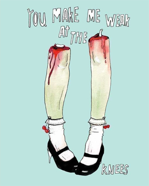Zombie Leg Love - Art Print - A4 Size