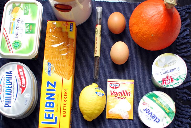 Kürbis-Cheesecake Zutaten | we love handmade