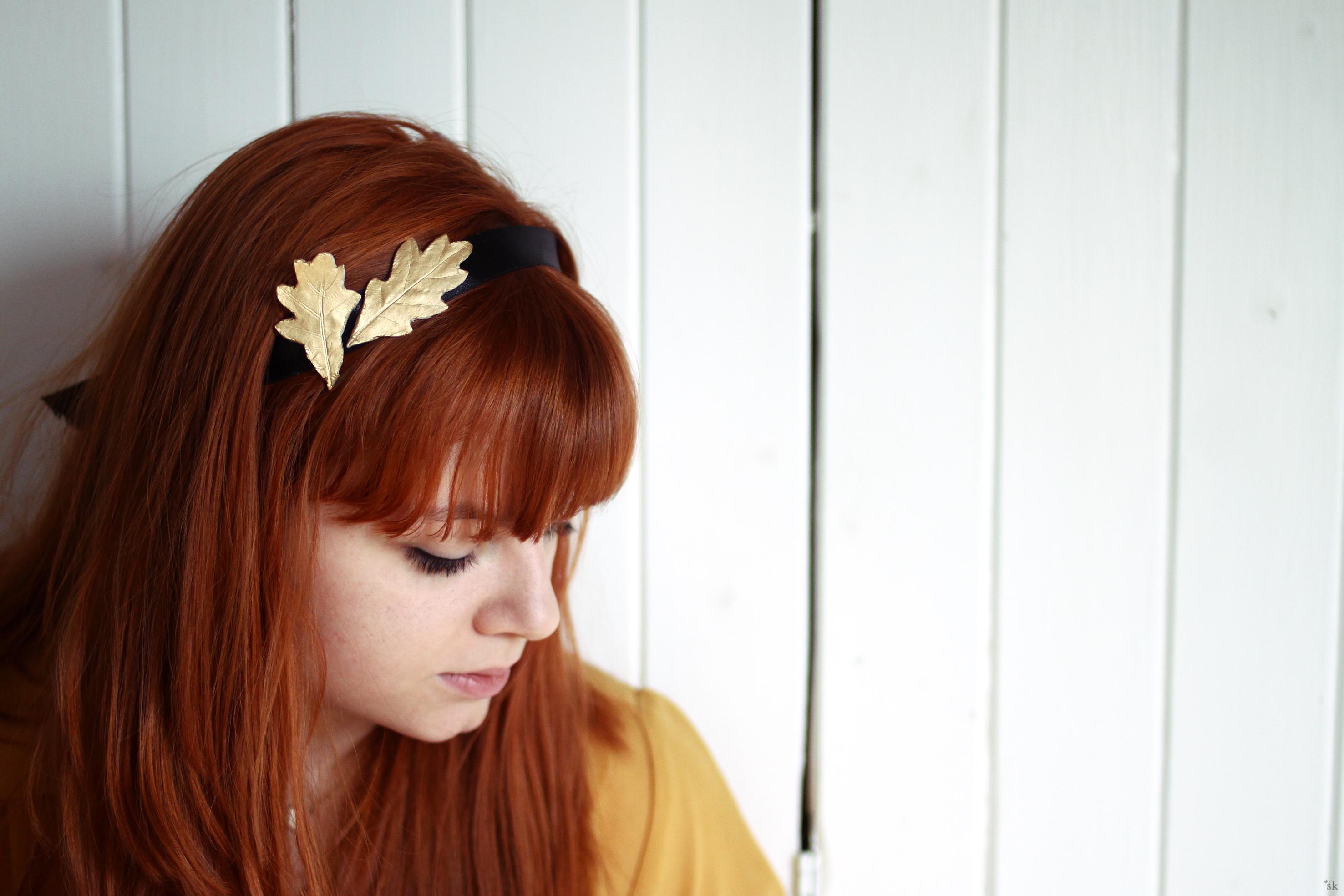 DIY Blätter im Haar