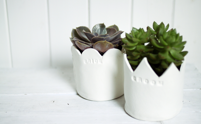 DIY: Blumentopf aus Ton | we love handmade