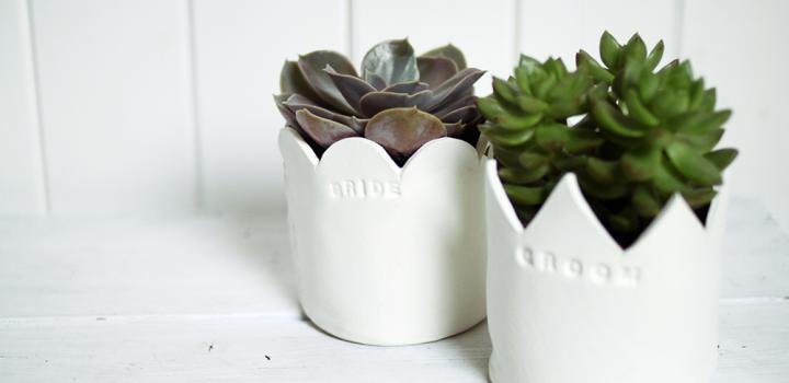 DIY: Blumentopf aus Ton