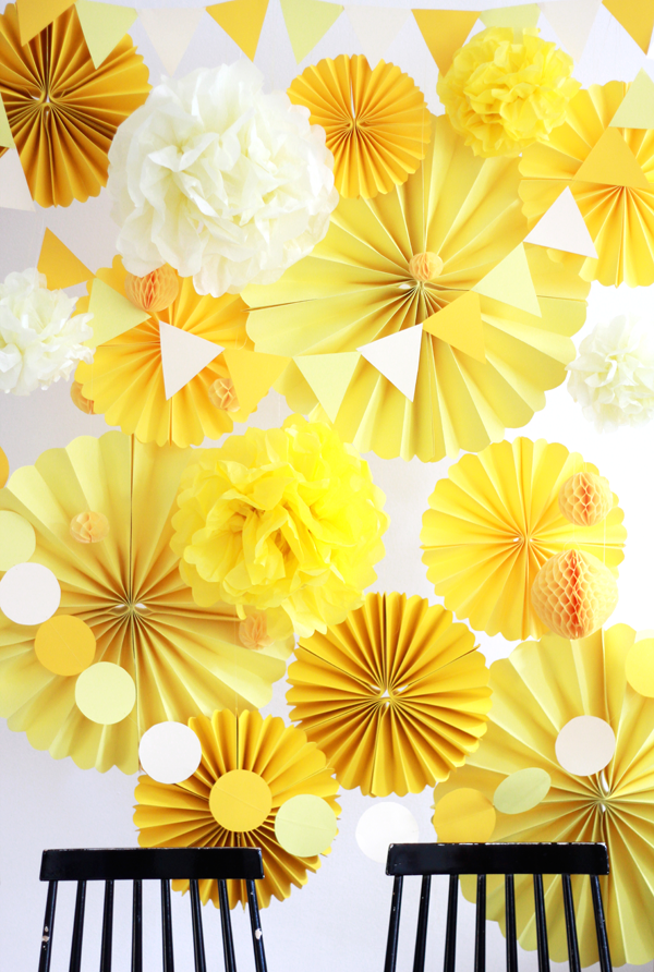 DIY Backdrop Yellow