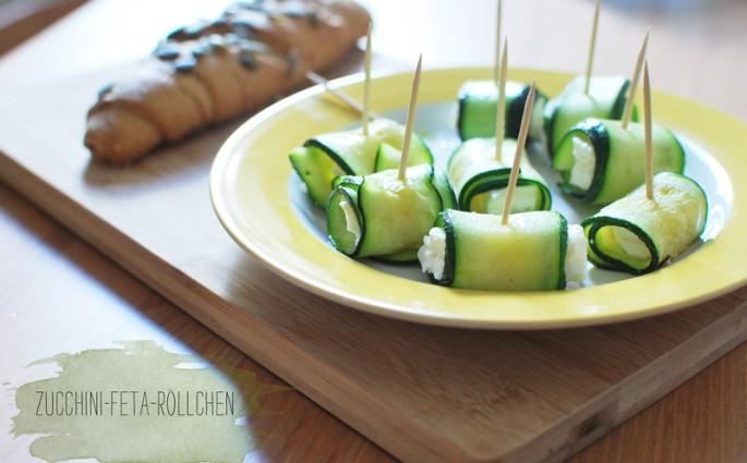 Zucchini-Feta-Röllchen | we love handmade