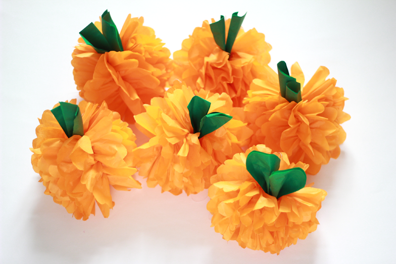 DIY Pumkin Pompoms