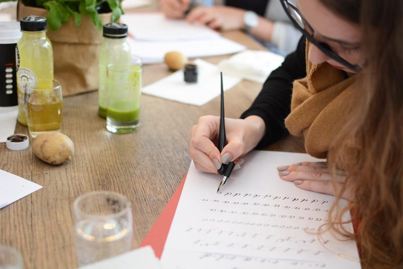 Workshop Kalligraphie mit Tintenfuchs | we love handmade