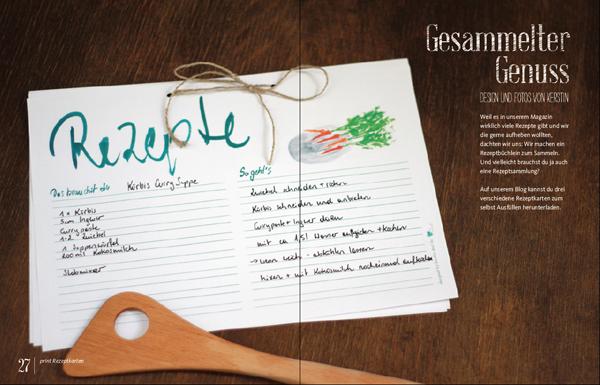 rezeptkarte - we love handmade