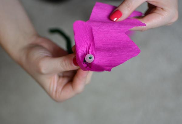 Blumenstrauß aus Krepppapier