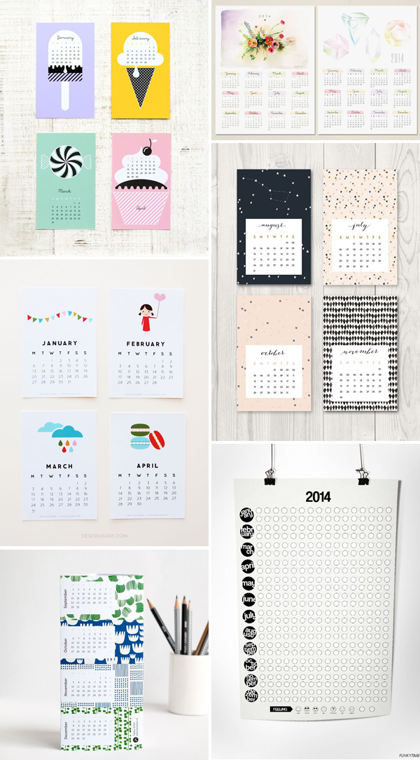 we love handmade Calendar 2014