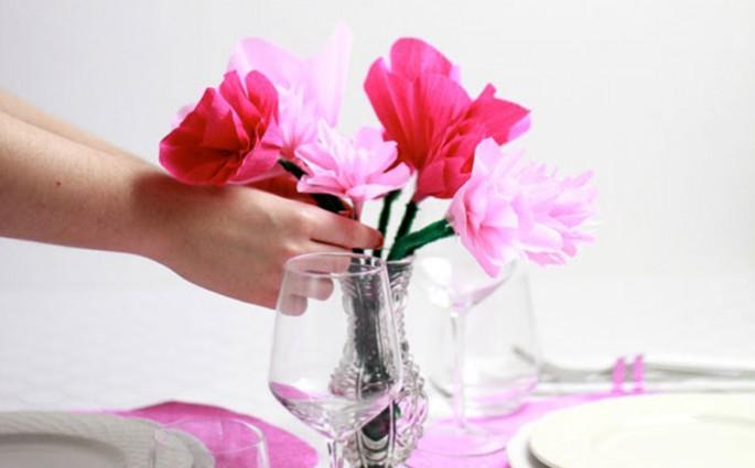Valentinstag Papierblumen DIY | we love handmade