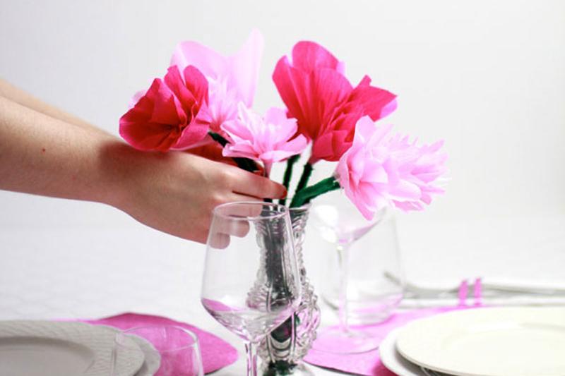 Valentinstag Papierblumen DIY   we love handmade