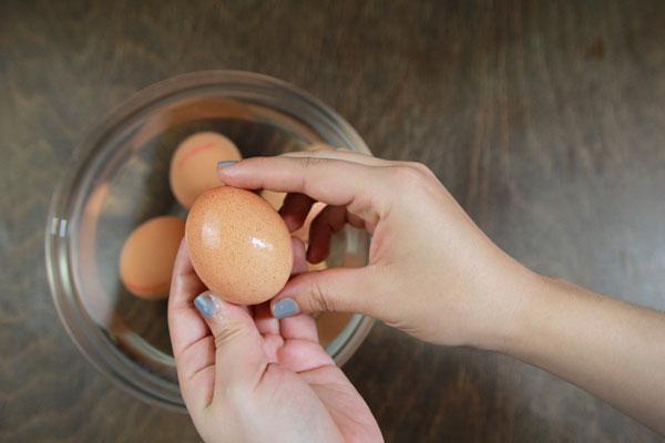 Eier reinigen