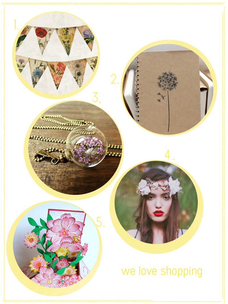 we love Shopping Blumen| we love handmade