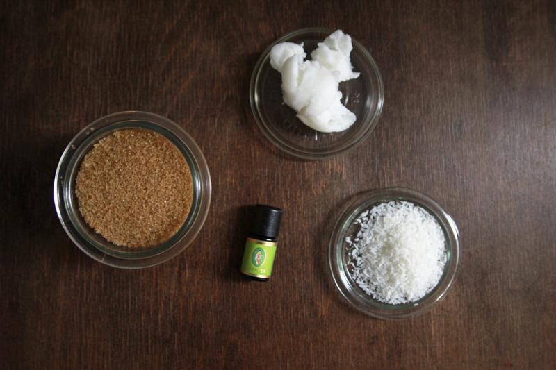 Zutaten Kokos-Limetten-Fußpeeling mit braunem Zucker | we love handmade
