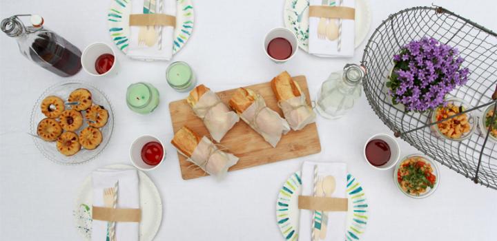 Picknick FOOD: Sandwiches, Nudelsalat und Mini-Gugls