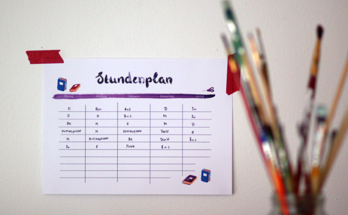 Stundenplan | we love handmade