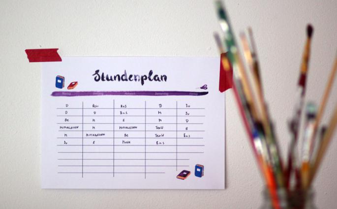 Stundenplan | we love handmade