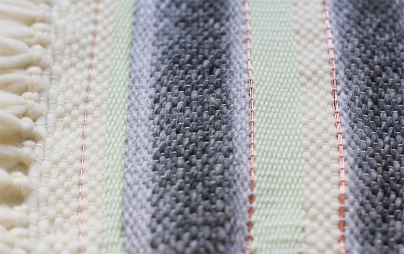 Weben Muster Kupferdraht