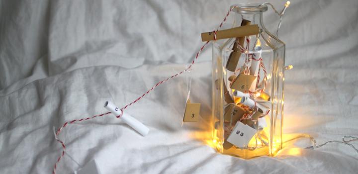 DIY: Adventskalender Flaschenpost