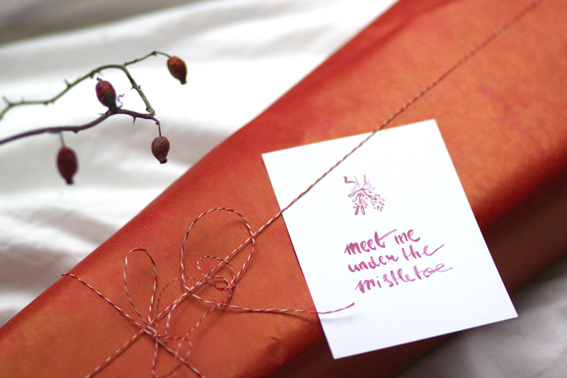 meet me under | we love handmade | weihnachtskarte