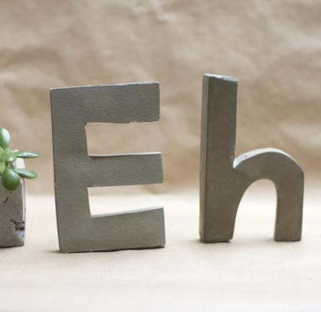 DIY: Zement Buchstaben