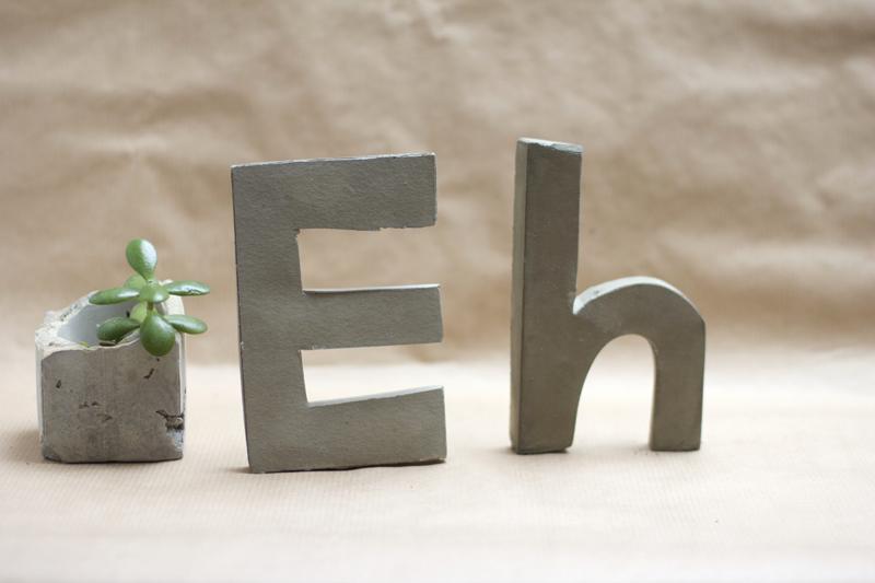 Zement Buchstaben DIY