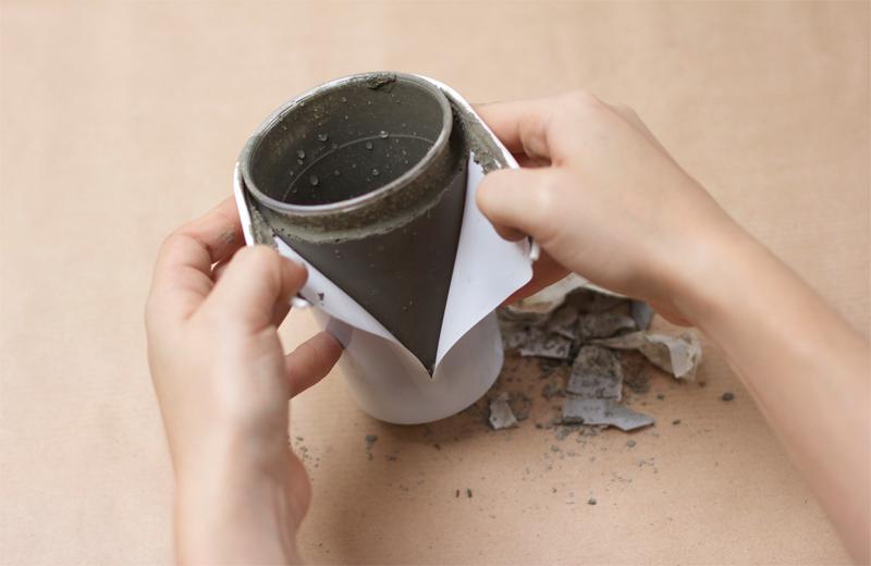 Zement DIY Becher