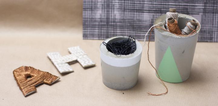 DIY: Aufbewahrung aus Zement