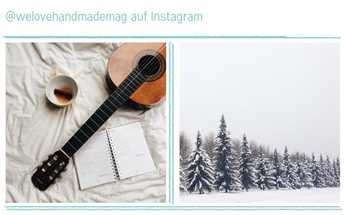 Gitarre und Schnee - we love Instagram  we love handmade