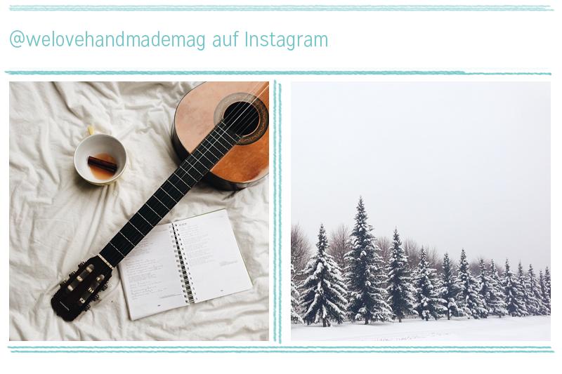 Gitarre und Schnee - we love Instagram |we love handmade