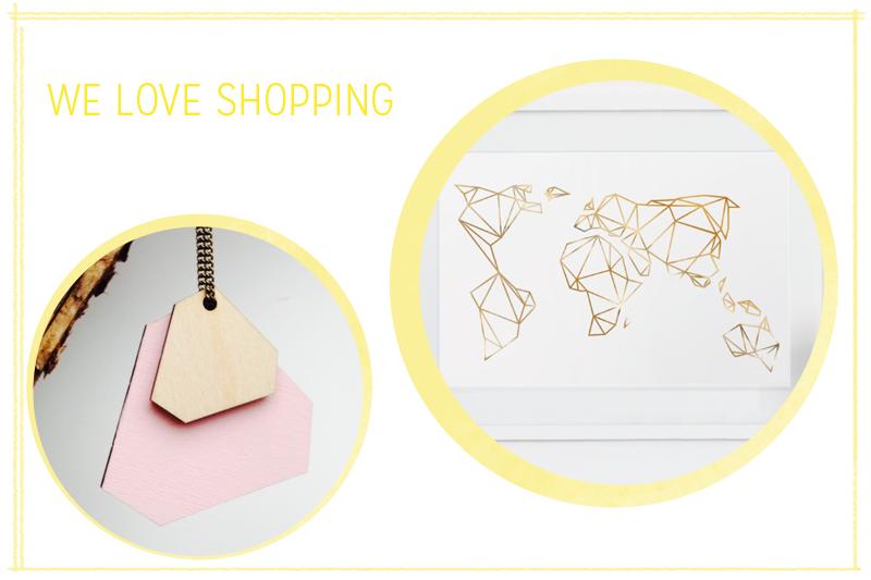 we love shopping: geometrische Accessoires |we love handmade