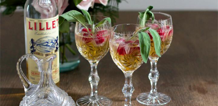 Drinks: Himbeer-Salbei-Lillet-Spritzer