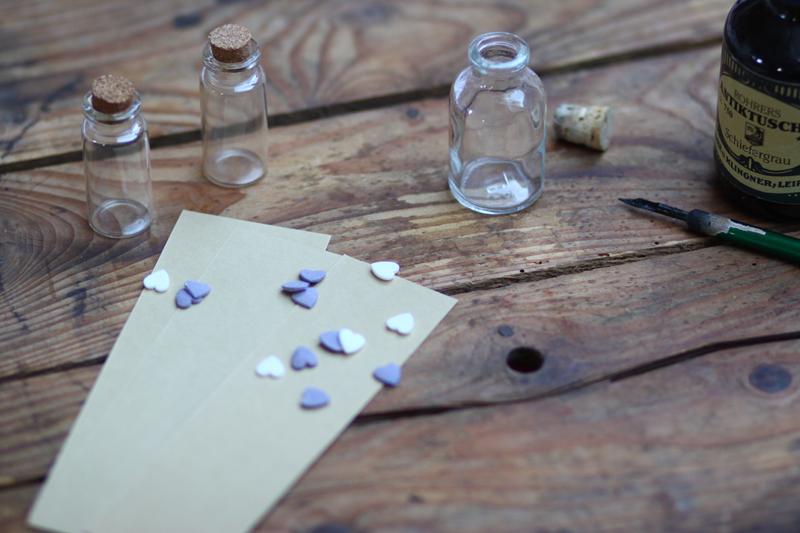 valentinstag | flaschenpost | material | welovehandmade
