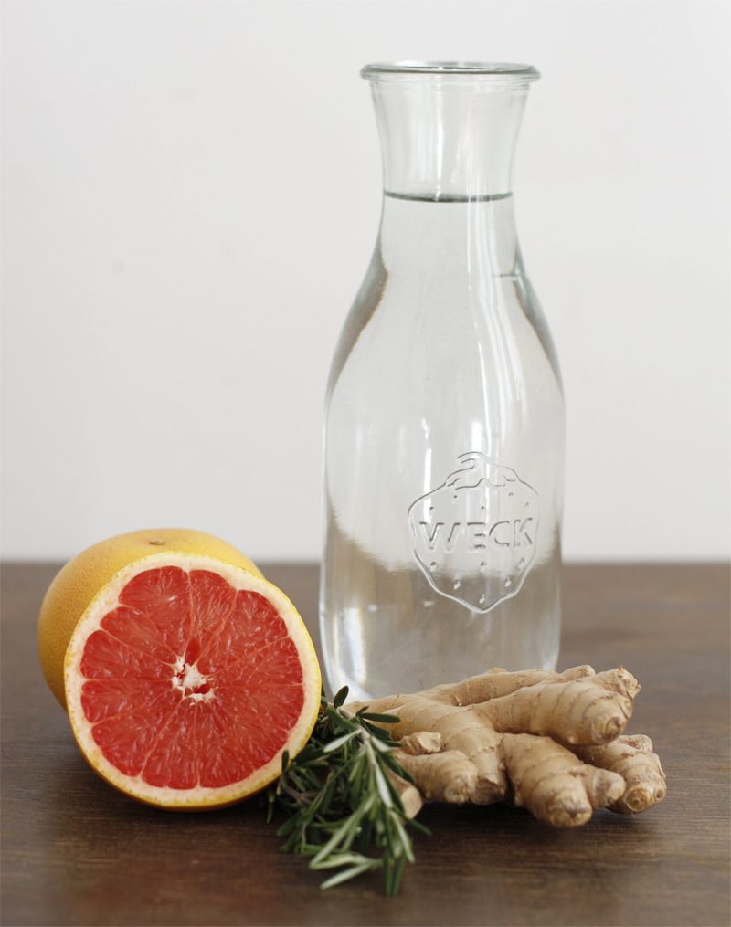 Infused Water Grapefruit Ingwer Rosmarin