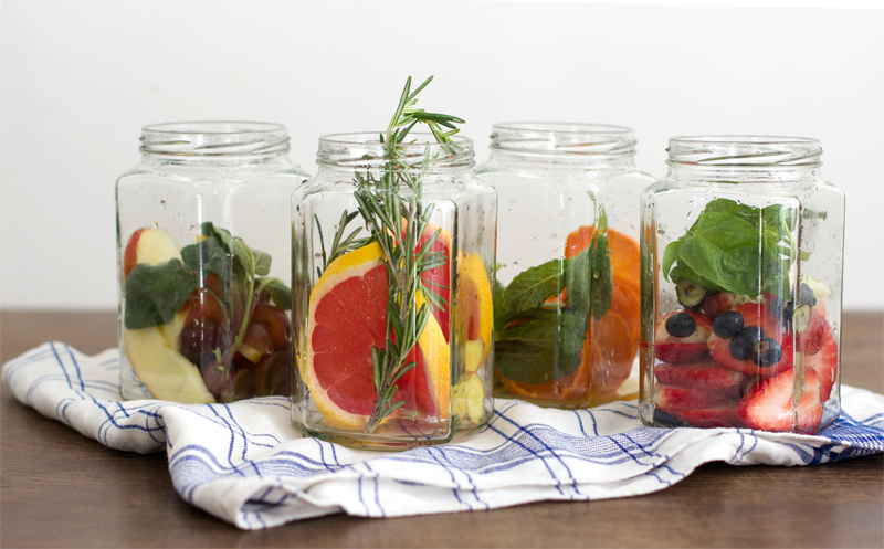 Infused Water Obst Glas