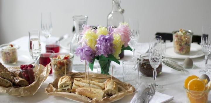 Food: Sandwiches und Couscous-Salat