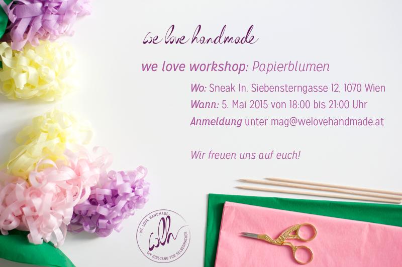 Papierblumen Workshop |we love handmade