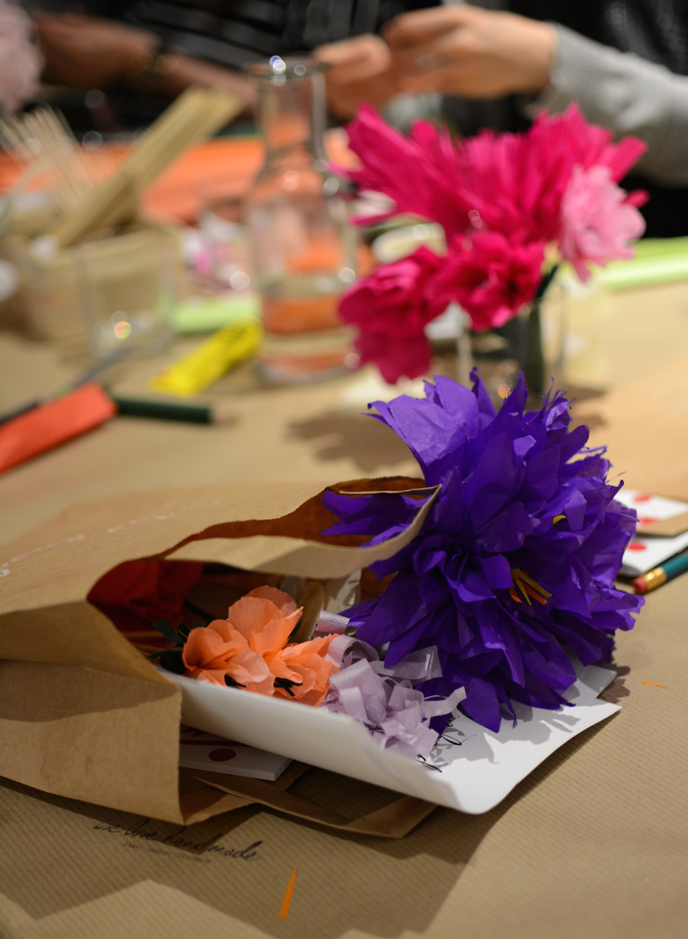 Papierblumen-Workshop | we love handmade