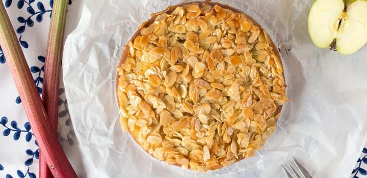 Gastblogger-Rezept: Rhabarber-Apfel-Kuchen mit Mandelstich