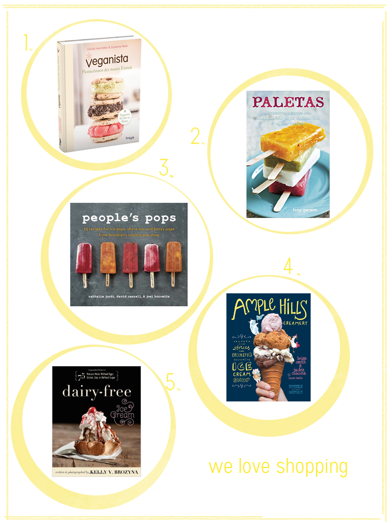 Eis, Ice Cream, Popsicles Bücher | we love handmade