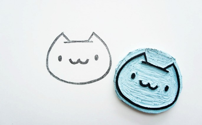 DIY Cat Stamp von The Pink Samurai |we love handmade