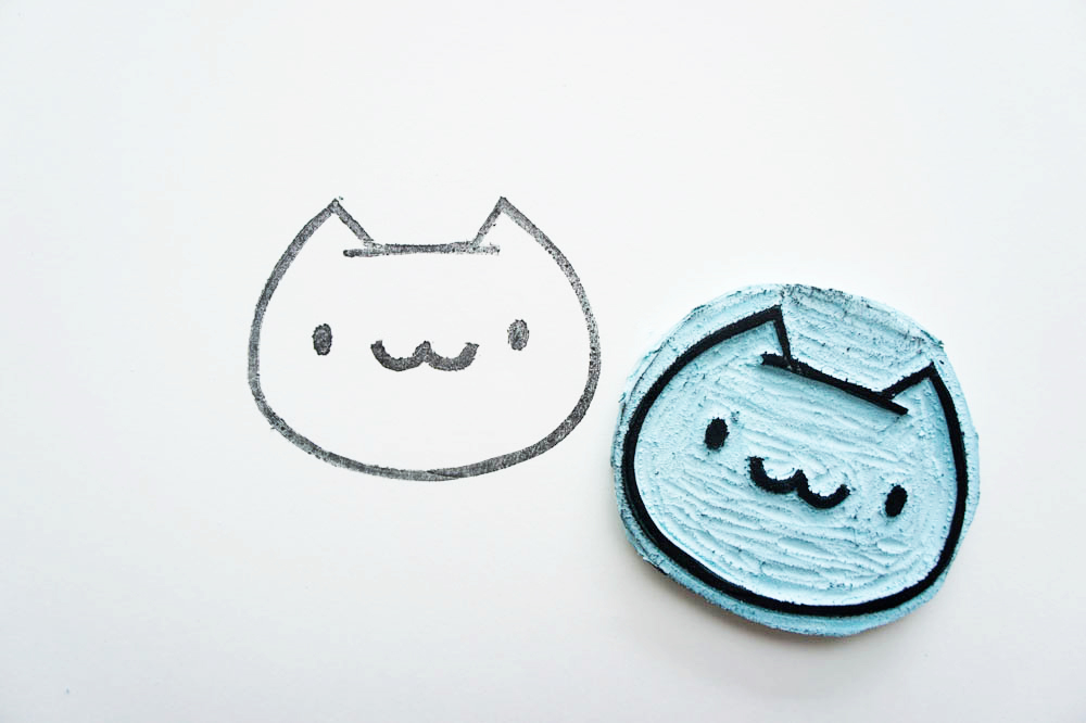 DIY Cat Stamp von The Pink Samurai | we love handmade