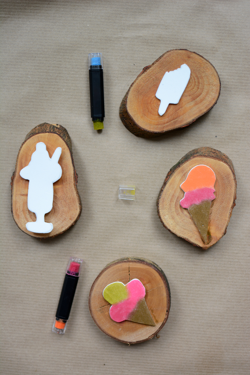 diy eis stempel aus moosgummi we love handmade. Black Bedroom Furniture Sets. Home Design Ideas