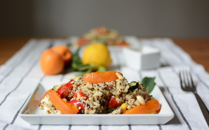 Quinoa-Marillen-Salat | we love handmade