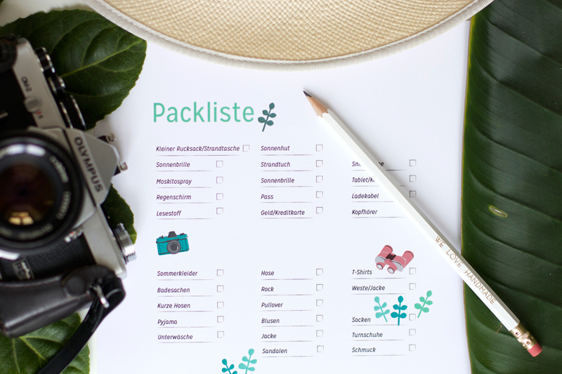 Freebie: Packliste | we love handmade