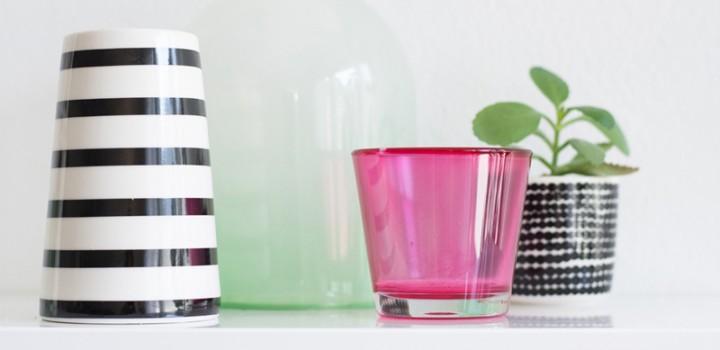 Gastblogger DIY: Glas mit Lebensmittelfarbe einfärben