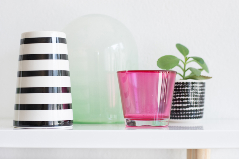 gastblogger diy glas mit lebensmittelfarbe einf rben we. Black Bedroom Furniture Sets. Home Design Ideas