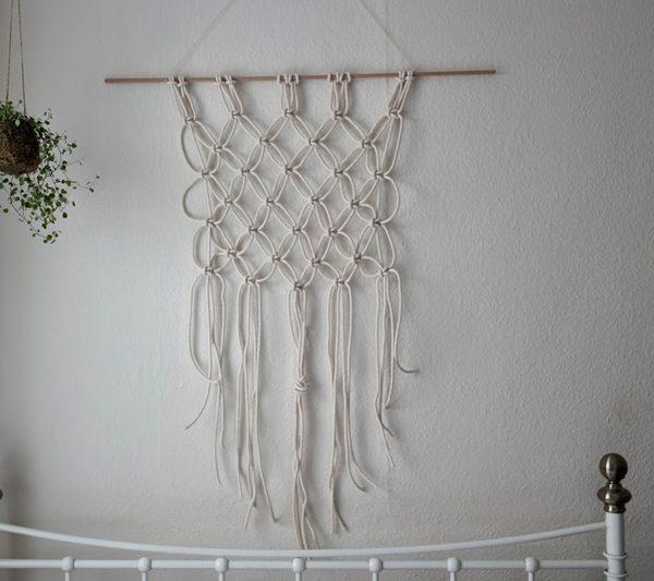 Makramee Wandbehang. Foto von missamyphipps  we love handmade