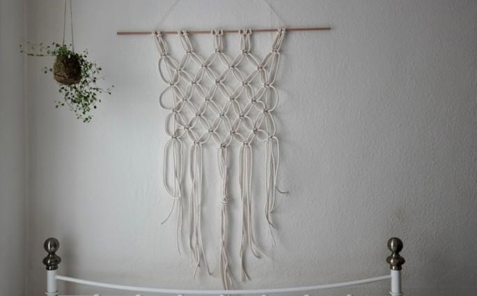 Makramee Wandbehang. Foto von missamyphipps |we love handmade