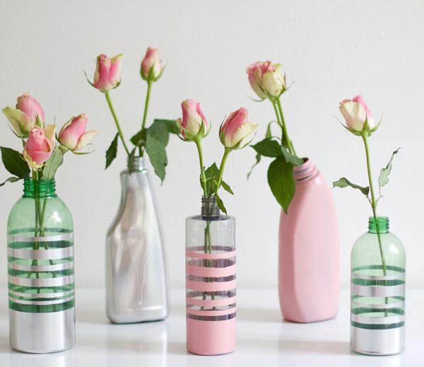 Vasen aus Plastikflaschen DIY |we love handmade