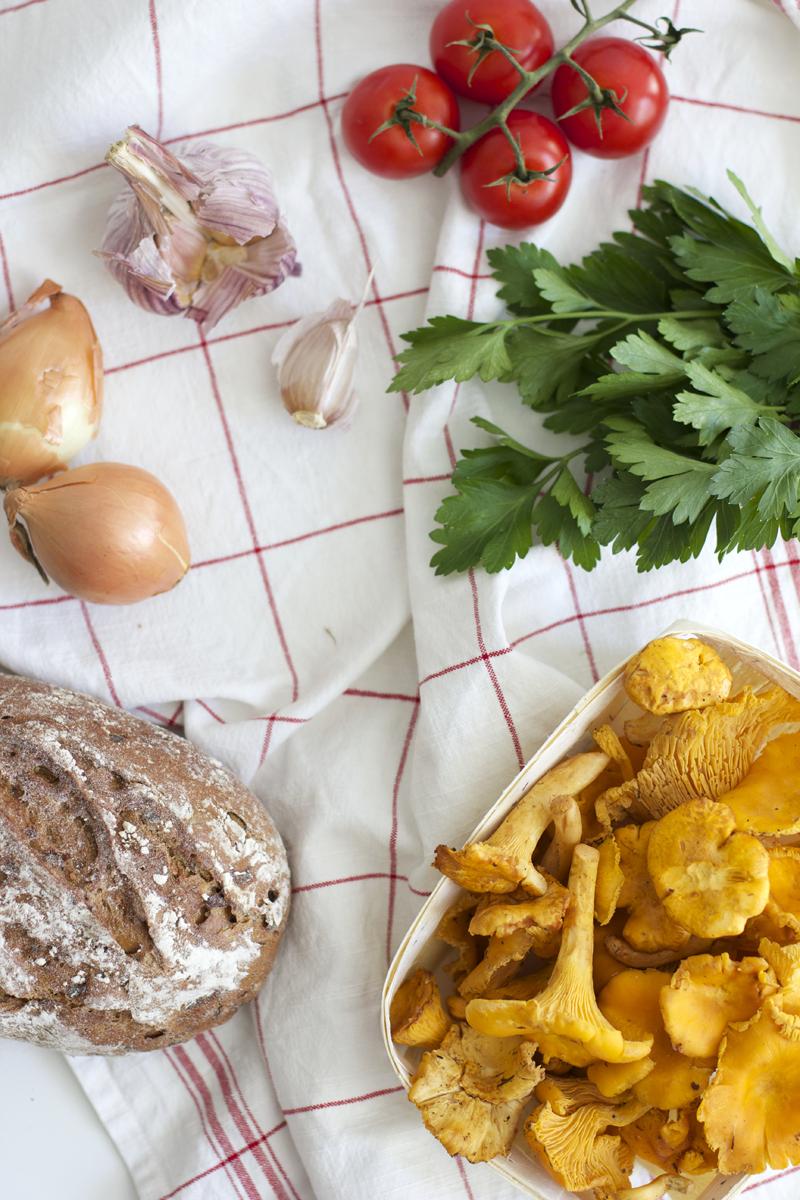 Zutaten für Eierschwammerl-Toast |we love handmade